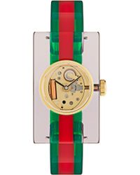 Gucci - Web Plexiglas Watch - Lyst