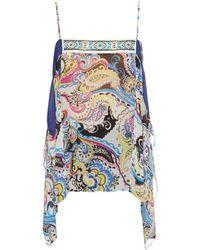 Etro - Bead-embellished Silk-chiffon Cami Top - Lyst