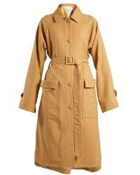 Golden Goose Deluxe Brand - Amanda Point-collar Gabardine Trench Coat - Lyst