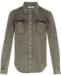 Givenchy - Point Collar Washed Denim Shirt - Lyst