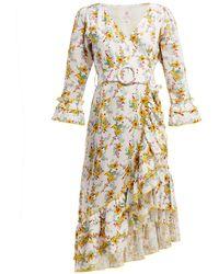 Gül Hürgel - Floral Print Linen Dress - Lyst