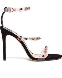 Sophia Webster - Rosalind Crystal Embellished Plexi Sandals - Lyst