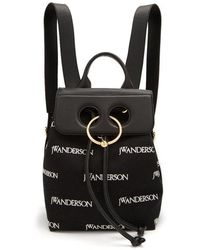 J.W.Anderson - Pierce Logo-embroidered Mini Linen Backpack - Lyst