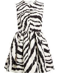 MSGM - Zebra Print Cloqué Mini Dress - Lyst