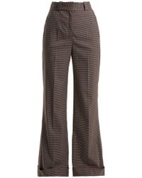 See By Chloé - Mini Check Wide-leg Trousers - Lyst
