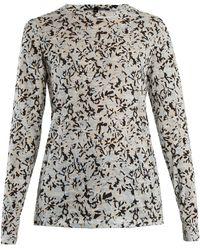 Proenza Schouler - Floral-print Long-sleeved Cotton T-shirt - Lyst