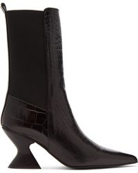 Marques'Almeida - Hourglass-heel Leather Chelsea Boots - Lyst