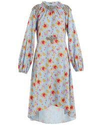 Dodo Bar Or - Marisa Floral-print Crystal-embellished Dress - Lyst