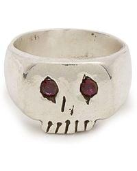 Aris Schwabe - Ruby-eyed Skull Sterling-silver Ring - Lyst
