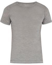 Falke - Henley Wool And Silk Blend T Shirt - Lyst
