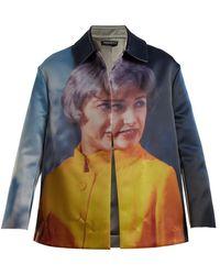 Undercover - Cindy-print Reversible Satin Jacket - Lyst