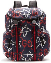 Gucci - Ghost-print Canvas Backpack - Lyst