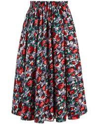 Marni - A-line Tulip-print Midi Skirt - Lyst