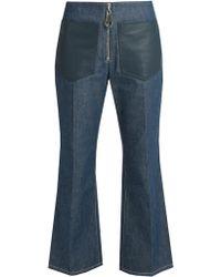 Edun - High-rise Flared Cropped Jeans - Lyst