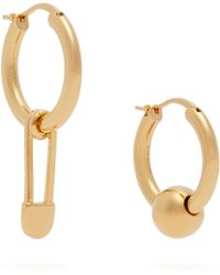Burberry - Chain Link And Sphere Drop Earrings - Lyst