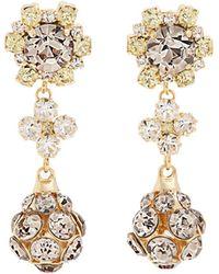 Erdem - Crystal-embellished Drop Clip-on Earrings - Lyst