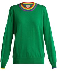 Burberry - Dales Rainbow-knit Wool Sweater - Lyst