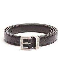 Saint Laurent - Grained-leather Belt - Lyst