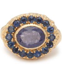 Jade Jagger - Skull Sapphire, Tanzanite & 18kt Gold Ring - Lyst