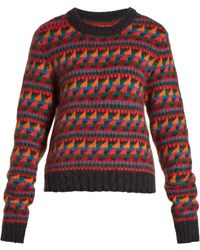 Burberry - Intarsia Wool-blend Sweater - Lyst