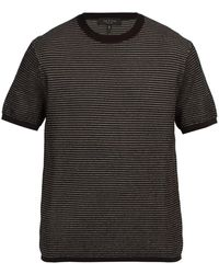 Rag & Bone - Finn Jacquard Knit Cotton Blend T Shirt - Lyst