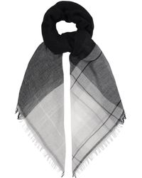 Weekend by Maxmara - Wool And Cotton-blend Checked Scarf - Lyst