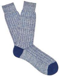 Pantherella - Hamada Linen-blend Socks - Lyst