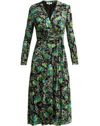 Diane von Furstenberg Phoenix Floral Wrap Dress - Multicolour