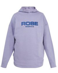 Martine Rose - Collapsed Cotton-jersey Hooded Sweatshirt - Lyst