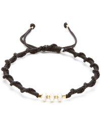Black Dakini - Sterling Silver And Cord Bracelet - Lyst