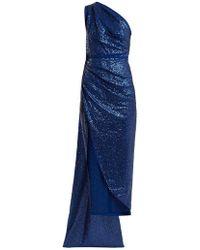 Elie Saab - One-shoulder Sequin-embellished Dress - Lyst