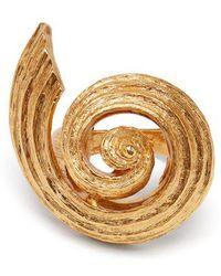 Oscar de la Renta - Spiral Shell Ring - Lyst