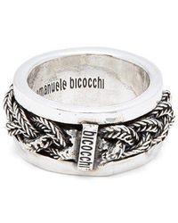 Emanuele Bicocchi - Braided Sterling-silver Ring - Lyst