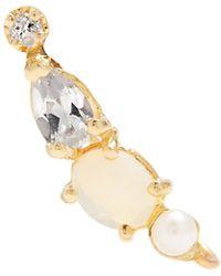 Loren Stewart - Diamond, Topaz, Opal, Pearl & Yellow-gold Earring - Lyst