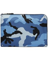Valentino - Camouflage-print Pouch - Lyst