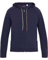 Paul Smith - Zip-through Hooded Cotton-jersey Sweatshirt - Lyst