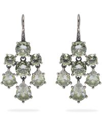 Bottega Veneta - Chandelier Oxidised-silver Earrings - Lyst