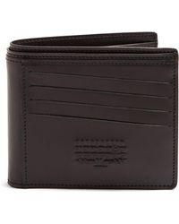 Maison Margiela - Logo-embossed Leather Bi-fold Wallet - Lyst