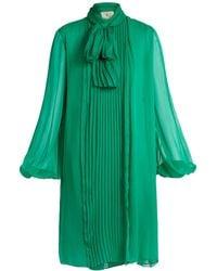 By. Bonnie Young - Neck-tie Silk-chiffon Dress - Lyst