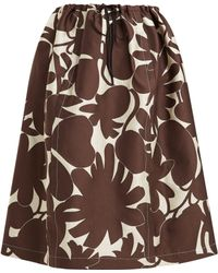 Marni - Avery Floral Print Midi Skirt - Lyst