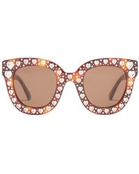 Gucci - Heart-embellished Cat-eye Sunglasses - Lyst