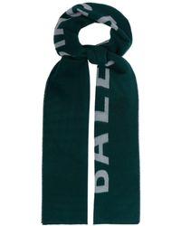 Balenciaga - Logo Intarsia Wool Scarf - Lyst