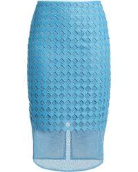 Diane von Furstenberg | Diamond And Twig-lace Pencil Skirt | Lyst