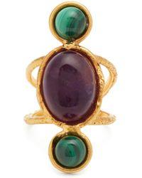 Sylvia Toledano - Amethyst And Malichite Gold-plated Ring - Lyst