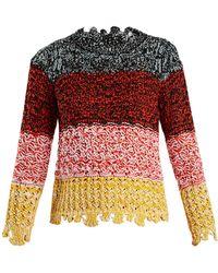 Sonia Rykiel - Colour-block Textured-knit Jumper - Lyst