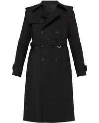 Alexander McQueen - Belted Wool And Cotton Twill Trench Coat - Lyst