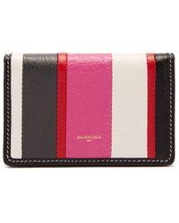 Balenciaga | Bazar Striped Leather Wallet | Lyst