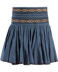 Étoile Isabel Marant - Jupe en coton brodée à fronces Breeda - Lyst