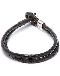 Paul Smith - Double Wrap Leather Bracelet - Lyst