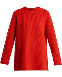 The Row | Taby Ribbed-cashmere Sweater | Lyst